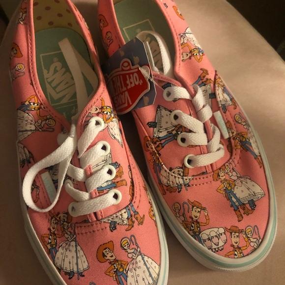 Vans Toy Story Woody Bo Peep Sneakers NWT